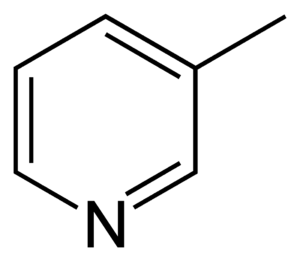 3-Methylpyridine - Image: 3 methylpyridine 2D skeletal