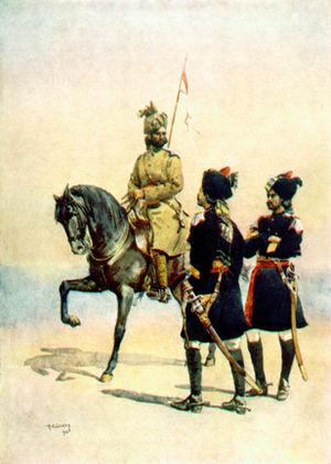 15th Lancers - Image: 37 Lancers (Baluch Horse), 36 Jacob's, 35 Scinde