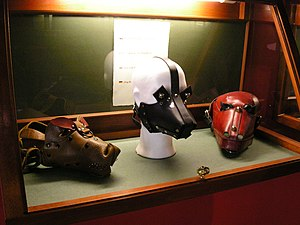 Three Bdsm Masks On Display In The Sex Machines Museum