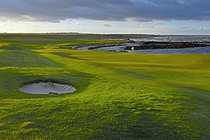 Crail Golfing Society - 3rd Green of Balcomie, with 4th fairway beyond