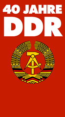 Logo for the 40th anniversary of the German Democratic Republic in 1989.