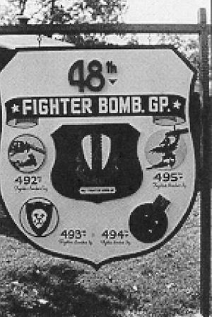 48th Operations Group - Headquarters Sign, 48th Fighter-Bomber Group, 1944