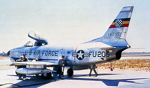 514th Fighter-Interceptor Squadron - 514th FIS F-86D 51-6205, about 1958