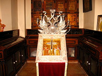 True Cross - Reliquary of the True Cross at the Church of the Holy Sepulchre, Jerusalem