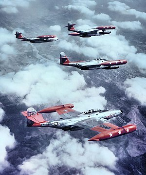 F-89 Scorpion units of the United States Air Force - 59th Fighter-Interceptor Squadron Northrop F-89D Scorpions in formation