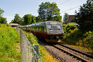 Vestfold Line - NSB Class 70 near Tønsberg