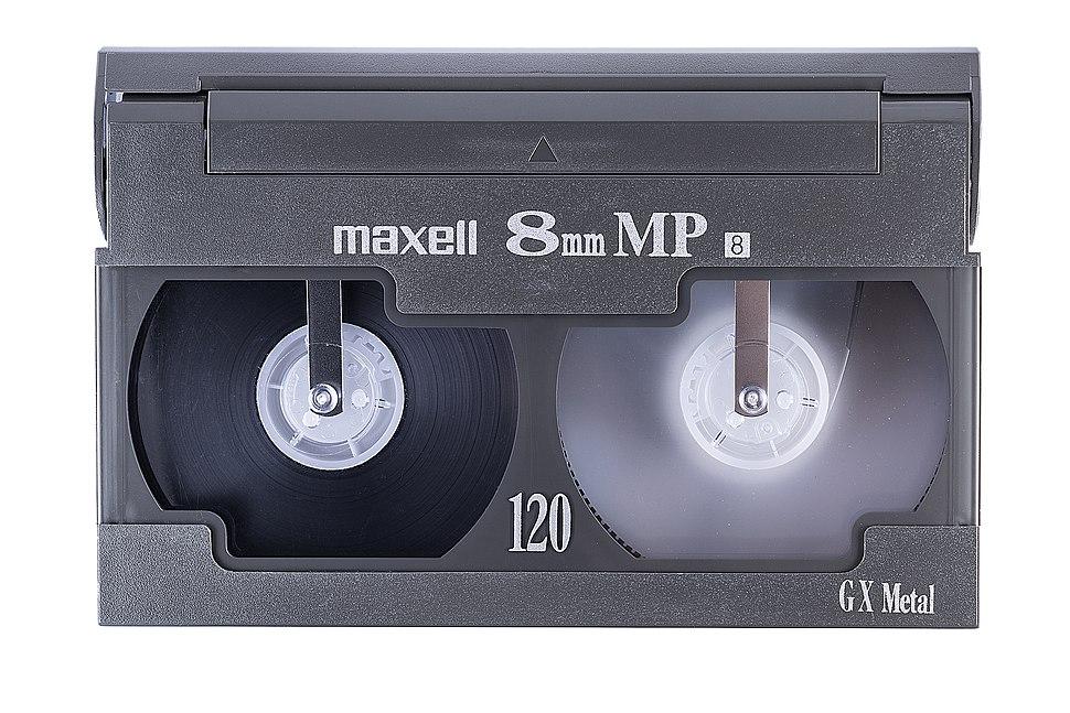 8mm video cassette front