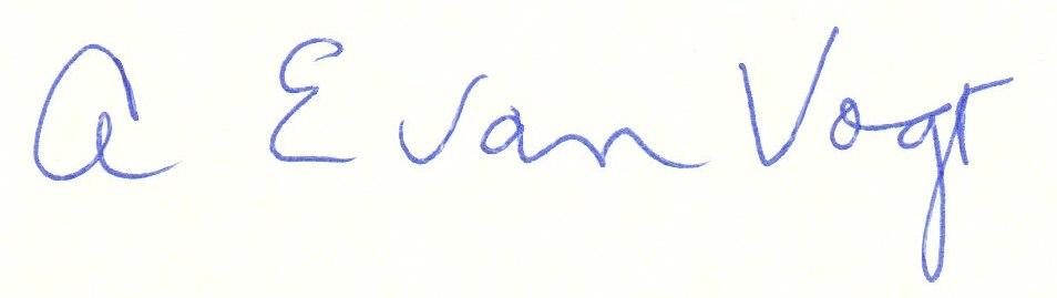 A.E. van Vogt (signature)