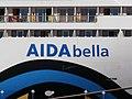 AIDAbella Name Sign Port of Tallinn 26 July 2017.jpg