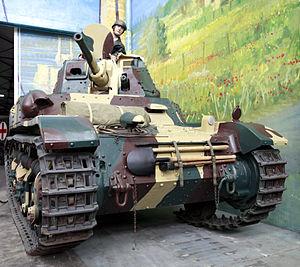 AMC 35 - AMC 35 on display at the Musée des Blindés in Saumur