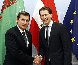 Austria–Turkmenistan relations - Meeting of Ministers of Foreign Affairs of Turkmenistan and Austria