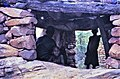 ASC Leiden - W.E.A. van Beek Collection - Dogon architecture 06 - In the men's house (Toguna), also just a resting place, Tireli, Mali 1980.jpg