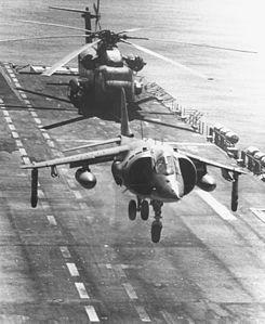 AV-8A VMA-513 taking off from USS Tarawa (LHA-1) 1980.jpeg