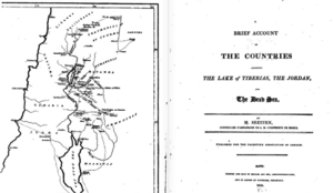 Palestine Association - Front cover and map of the society's 1810 publication