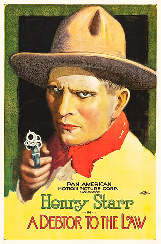 Henry Starr - Poster for A Debtor to the Law (1919)