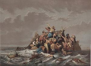 English: A Flood on Java (c.1865-1876) by Rade...