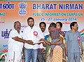 A Ganesh Kumar distributing the various loans to weaker sections extended by Indian Bank, at the Bharat Nirman Public Information Campaign, at Gingee in Villupuram District, Tamil Nadu on January 25, 2014.jpg