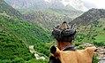A Hawrami man with traditional headdress, Kurdistan.jpg