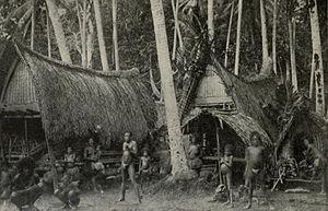 Kiriwina - A Kiriwina Village (1899)