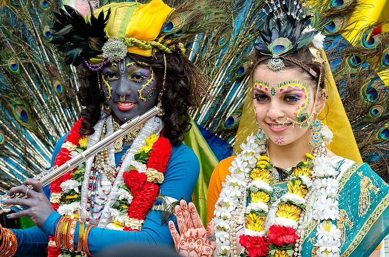 File:A Krishna Radha couple at the Ratha Yatra Festival Of Chariots.jpg