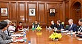 A Russian delegation led by the Director of the Federal Security Service, Russia, Mr. Alexander Bortnikov calling on the Union Home Minister, Shri Rajnath Singh, in New Delhi.jpg
