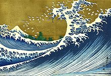 Kanagawa Monstre Wave Turnbeutel Sea Waves Yokai Fun Japon vague mer