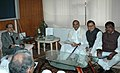 A delegation led by the Chief Minister of Andhra Pradesh, Shri Y.S.R. Rajasekhara Reddy meeting the Union Minister for Water Resources, Prof. Saifuddin Soz, in New Delhi on January 19, 2009.jpg