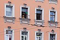 A dog in a window of a building on the Vasilievsky Island.jpg