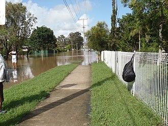 Brassall, Queensland - 2010–11 Queensland floods in Brassall streets