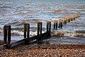 A rather worn down groyne. - geograph.org.uk - 1571025.jpg