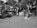 A roadside stall of Chinese New Year couplets in Yuen Long District BW.jpg