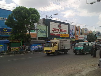 Purwokerto - A row of shops in Purwokerto