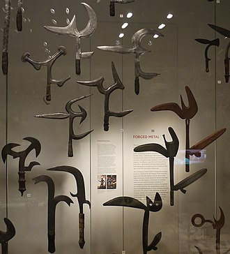 Throwing knife - A selection of African throwing knives in the British Museum
