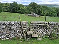 A stile and Gill Head Barn - geograph.org.uk - 718105.jpg