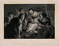 A tooth-drawer in his practice extracting a tooth from a sea Wellcome V0012007.jpg