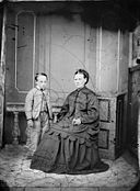 A woman and a young boy NLW3364818.jpg
