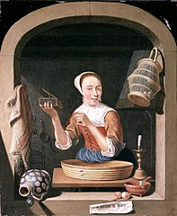 Young Woman with a Mousetrap