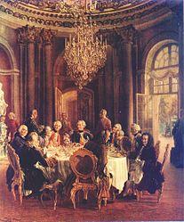 Adolph von Menzel: Tafelrunde