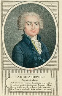 Adrien Duport French politician