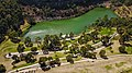 Aerial perspective of the quarry lake at Ferntree Gully Quarry Recreational Reserve.jpg