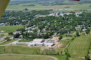 Broadview, Saskatchewan - Aerial view of Broadview in 2014