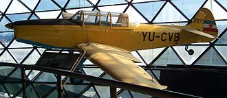 Ikarbus - Ikarus Aero 2 primary trainer plane on display at Belgrade Aviation Museum.