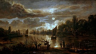 Moonlit Landscape with a Broad Stream