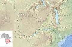 Victoria Şelalesi, Zambezi Nehri'nde yer almaktadır.