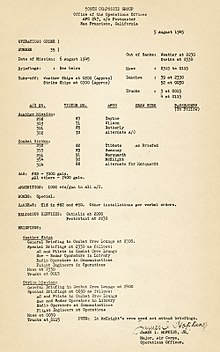 A typed page of instructions