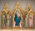 Agnolo gaddi, madonna in trono tra santi e angeli, 1380-90 circa.JPG