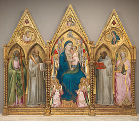 Madonna and Child with Saints Andrew, Benedict, Bernard, and Catherine of Alexandria with Angels