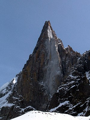 The Drus seen from the Mer de Glace