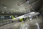 AirBaltic Bombardier CS300 mainenance (33221394935).jpg