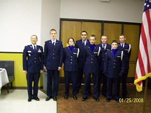 Midwest City High School - Lt. Col. Penning with cadets